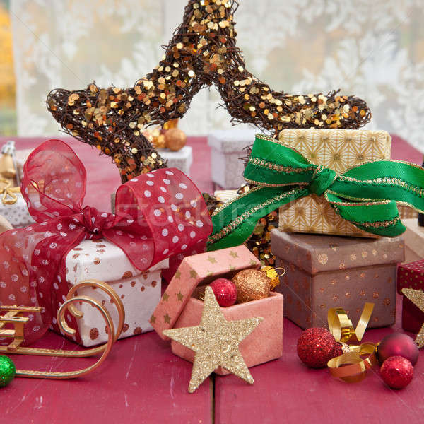 Stock photo: Little colorful presents