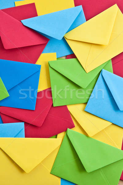 Multi colored envelopes and letters Stock photo © BarbaraNeveu