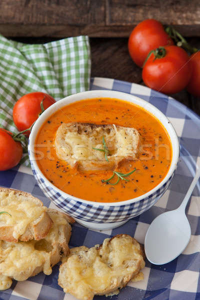 Hearty tomato soup Stock photo © BarbaraNeveu