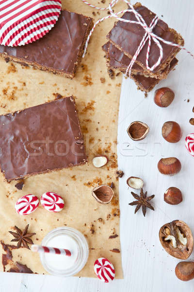 Homemade brownies and nuts Stock photo © BarbaraNeveu