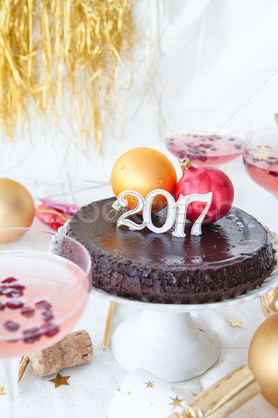 Cake for a New Year's Eve Party Stock photo © BarbaraNeveu
