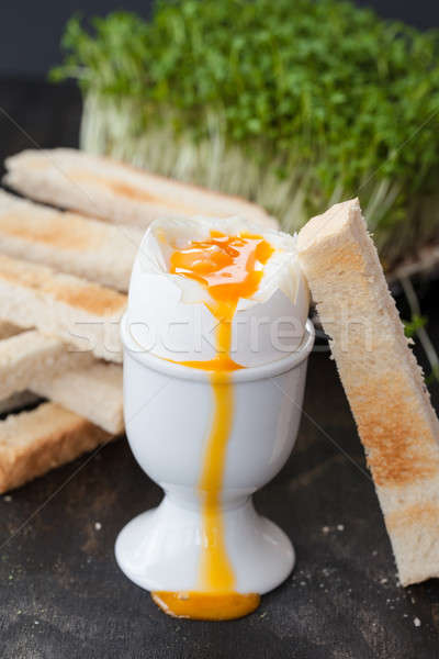 мягкой яйцо желток тоста Сток-фото © BarbaraNeveu