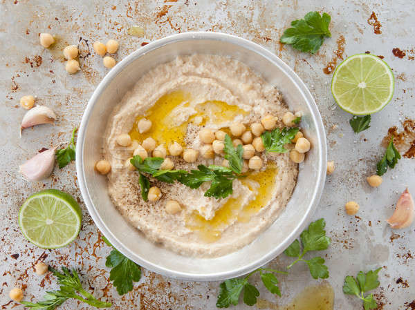 Homemade hummus Stock photo © BarbaraNeveu