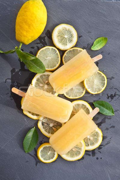 Fresh lemon popsicles Stock photo © BarbaraNeveu