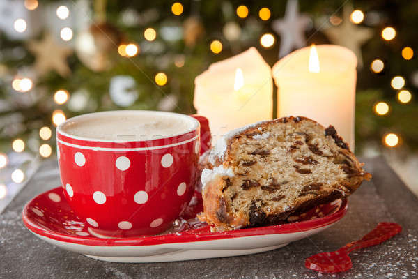 Cup of coffee and fruit loaf Stock photo © BarbaraNeveu