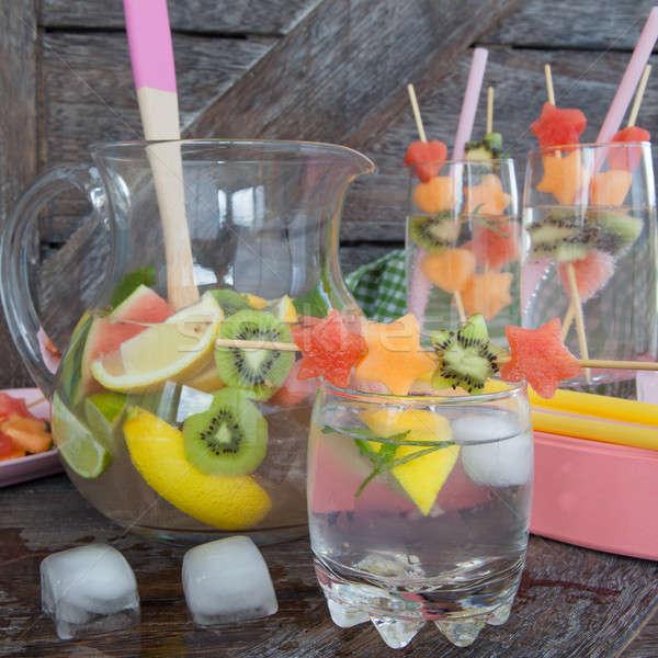 Ghiaccio bevanda fredda frutti freddo bere fresche Foto d'archivio © BarbaraNeveu