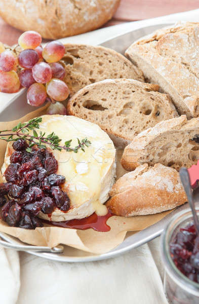 Baked brie with cranberries Stock photo © BarbaraNeveu
