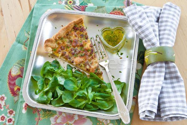 レタス 作品 新鮮な 食品 中心 油 ストックフォト © BarbaraNeveu
