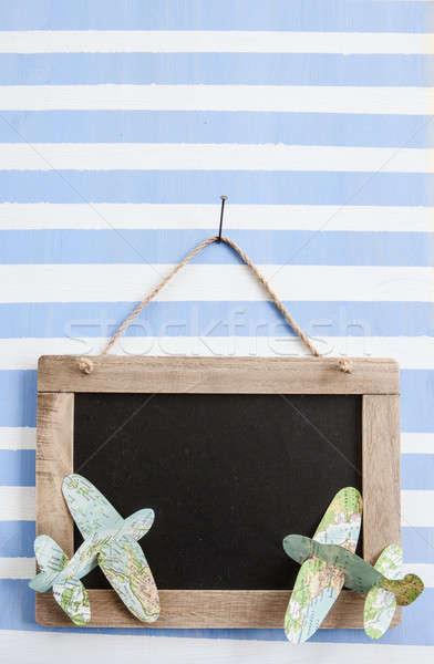 Rustique tableau rayé peint Photo stock © BarbaraNeveu