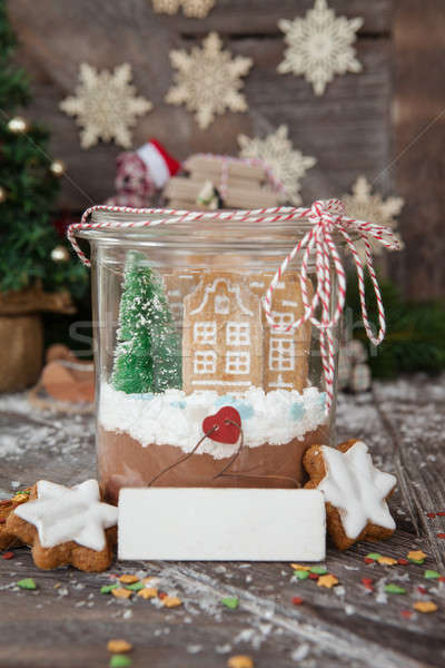 Homemade cocoa mix and cookies Stock photo © BarbaraNeveu