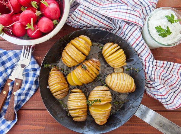 素朴な 新鮮な 海塩 野菜 食事 ストックフォト © BarbaraNeveu