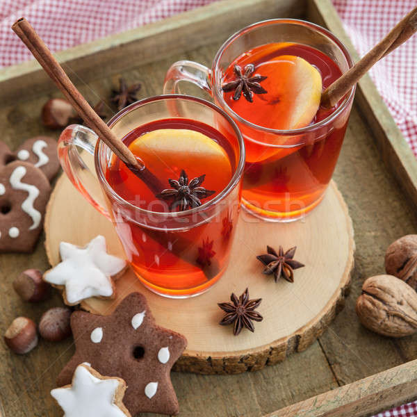 Hot rum punch with apple Stock photo © BarbaraNeveu