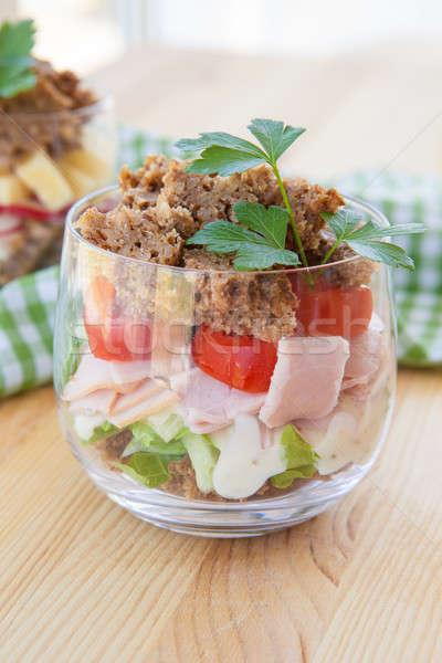 Sandwich in a glass Stock photo © BarbaraNeveu
