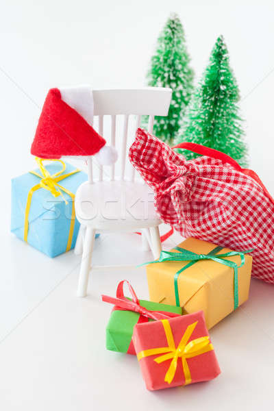 Foto stock: Colorido · natal · presentes · caixas · pequeno