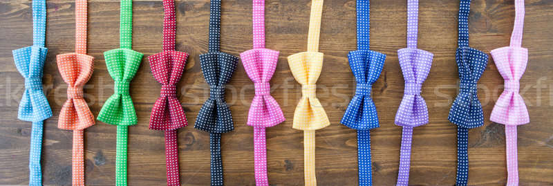 Variety of colorful bow tie Stock photo © BarbaraNeveu