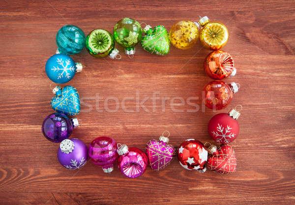 クリスマス 虹色 木製 パーティ 楽しい ストックフォト © BarbaraNeveu