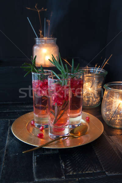 Festive cocktail with rosemary Stock photo © BarbaraNeveu