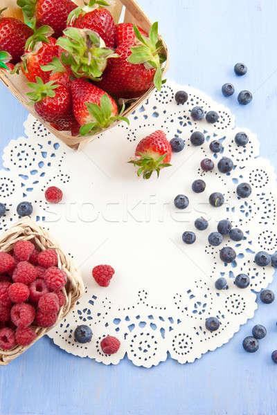 Variety of berries Stock photo © BarbaraNeveu