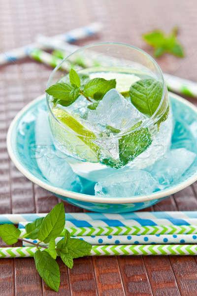Taze limonata kireç nane yaprak yaz Stok fotoğraf © BarbaraNeveu
