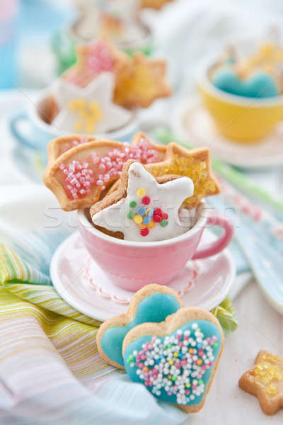 Coloré cookies sucre tasse photo Noël Photo stock © BarbaraNeveu