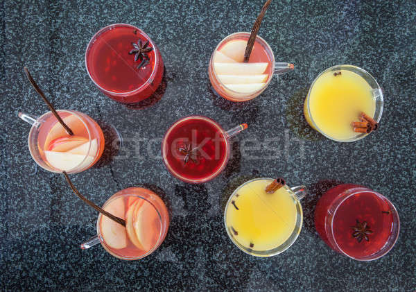 Mulled wine with winter spices Stock photo © BarbaraNeveu