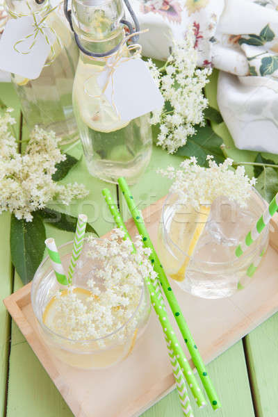Stock photo: Homemade lemonade made from elderberry