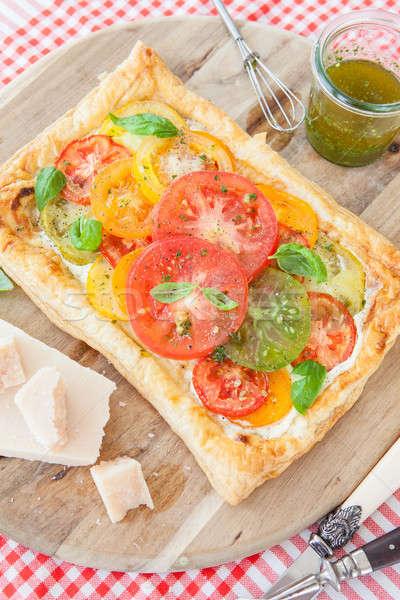 自家製 ペストリー 新鮮な トマト 緑 ストックフォト © BarbaraNeveu