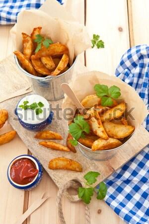 Fresh potato wedges Stock photo © BarbaraNeveu