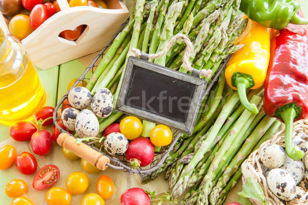 Green asparagus and other fresh vegetables Stock photo © BarbaraNeveu