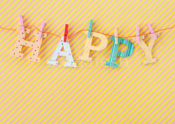 Feliz banner colorido fiesta fondo Foto stock © BarbaraNeveu