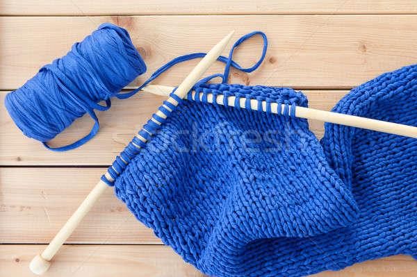 ビッグ 針 青 糸 木材 ストックフォト © BarbaraNeveu
