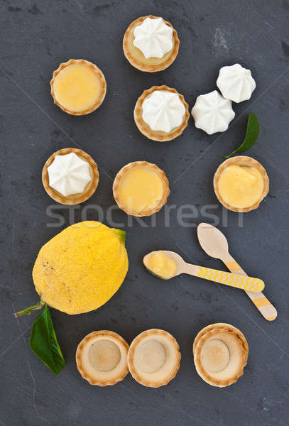 Little meringue lemon pies Stock photo © BarbaraNeveu