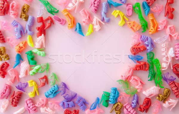 Variety of colorful high heels Stock photo © BarbaraNeveu