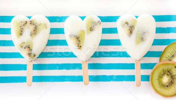 Foto stock: Caseiro · congelada · iogurte · fresco · frutas · comida