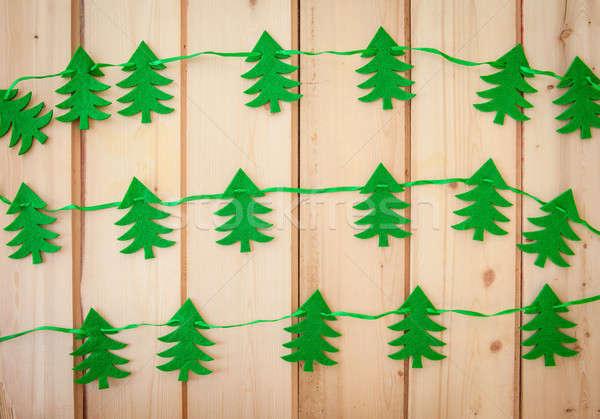 Garland with felt christmas tree Stock photo © BarbaraNeveu