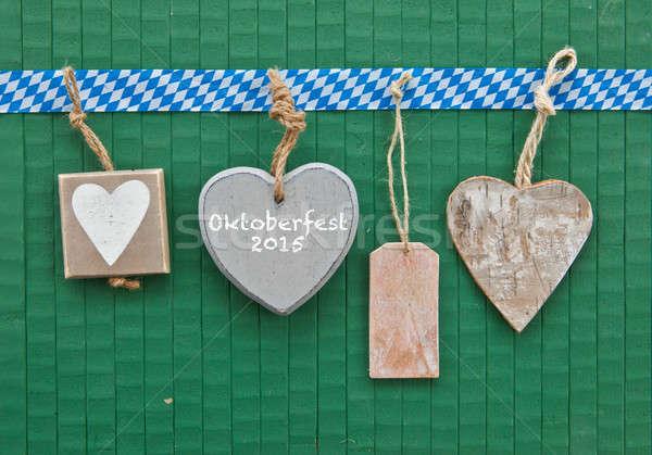 Little hearts on green  Stock photo © BarbaraNeveu