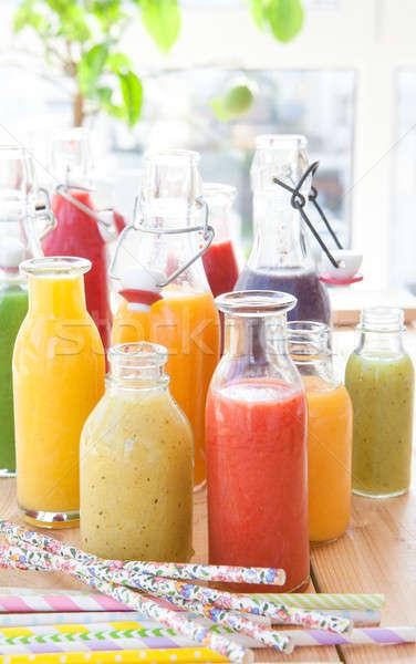 Variety of fresh smoothies Stock photo © BarbaraNeveu