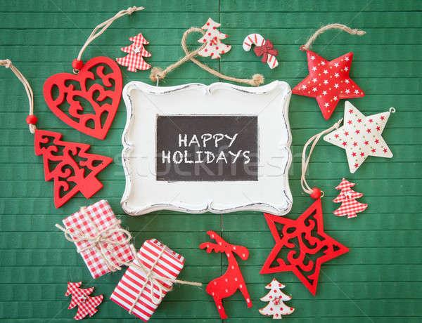 Foto stock: Colorido · Navidad · decoraciones · verde · rojo
