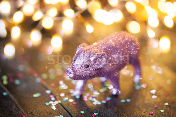 Little pink pig as a lucky charm Stock photo © BarbaraNeveu