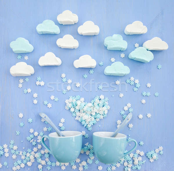 Marshmallows in cloud shapes Stock photo © BarbaraNeveu