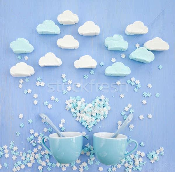 Wolk suiker sneeuwvlokken wolken Stockfoto © BarbaraNeveu