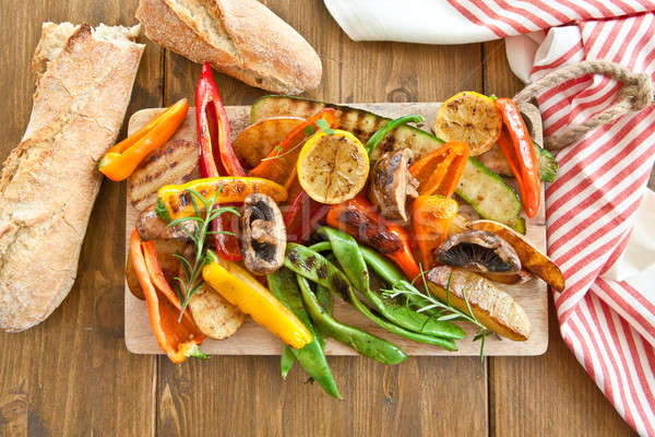 Colorful grilled summer vegetables Stock photo © BarbaraNeveu