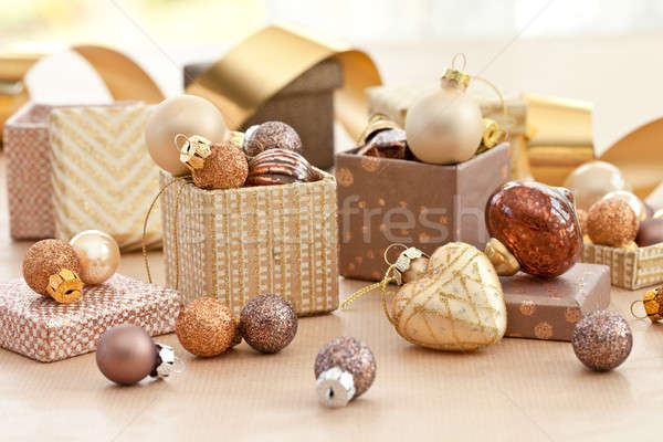 Stock photo: Colorful christmas baubles