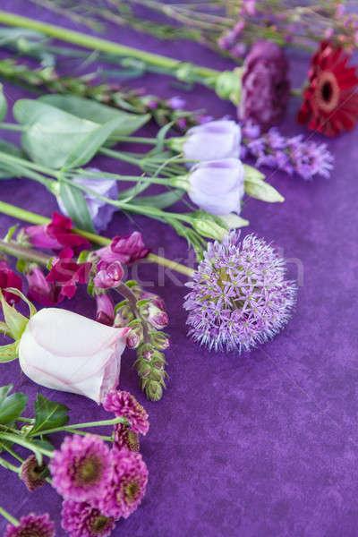 Variety of fresh flowers Stock photo © BarbaraNeveu