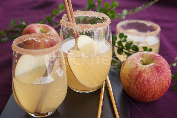 Fruit cocktail appel kaneel glas drinken Stockfoto © BarbaraNeveu
