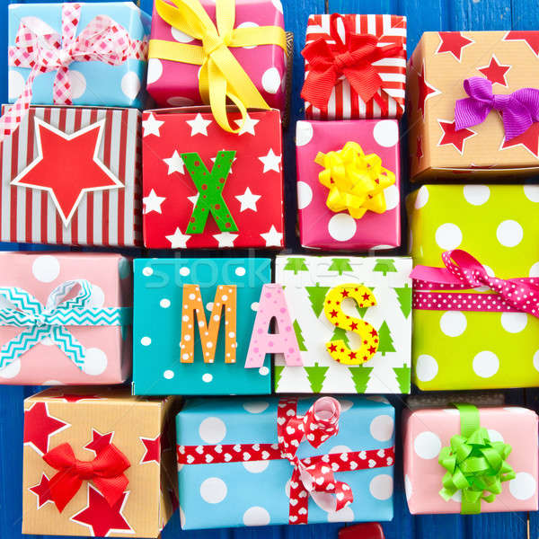 Little presents wrapped in colorful paper Stock photo © BarbaraNeveu
