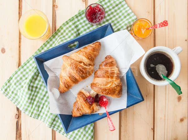 Fresh croissants for breakfast Stock photo © BarbaraNeveu