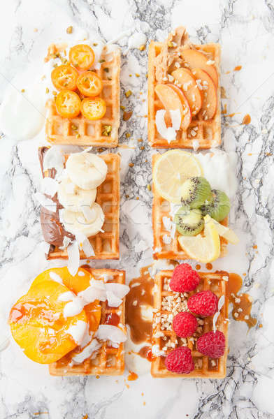 Waffles with fresh fruits Stock photo © BarbaraNeveu