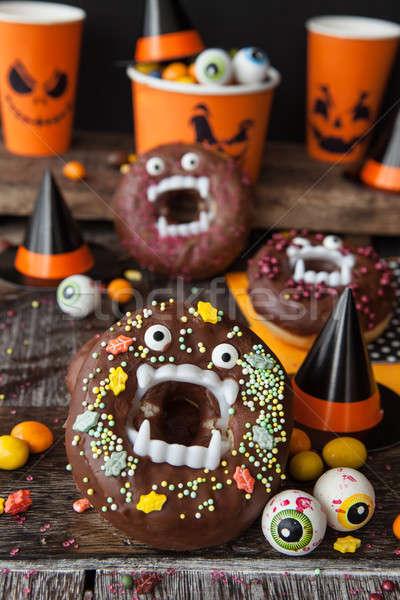 Scary Halloween donuts Stock photo © BarbaraNeveu