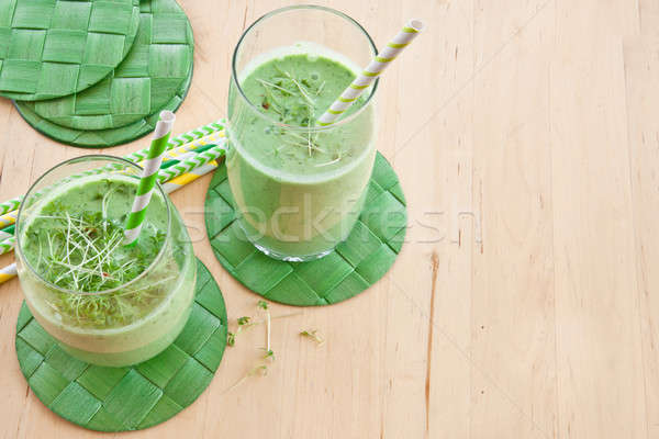 Green smoothie with herbs Stock photo © BarbaraNeveu